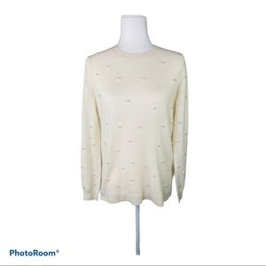 Belle France 100% Cashmere Sweater Ivory c…